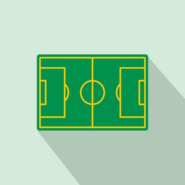 Fußball-Feld-Ikone, flachen Stil – Vektorgrafik