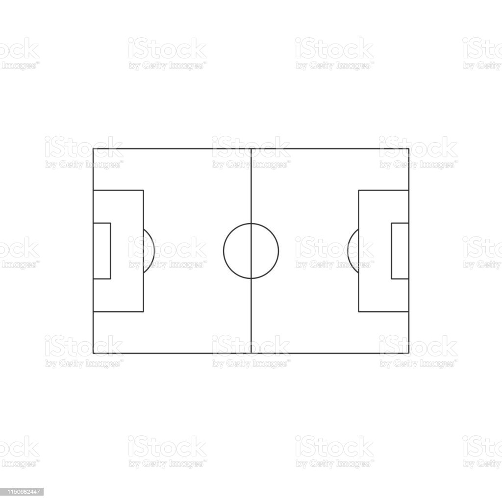 Soccer field icon. Simple illustration of soccer or football field...