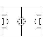 Fussball Feld Schwarzweiss Farbtabelle Symbol Stock Vektor Art