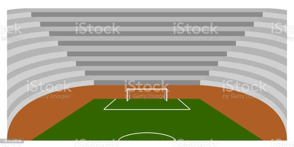 Fussballplatz In Einem Stadion Stock Vektor Art Und Mehr