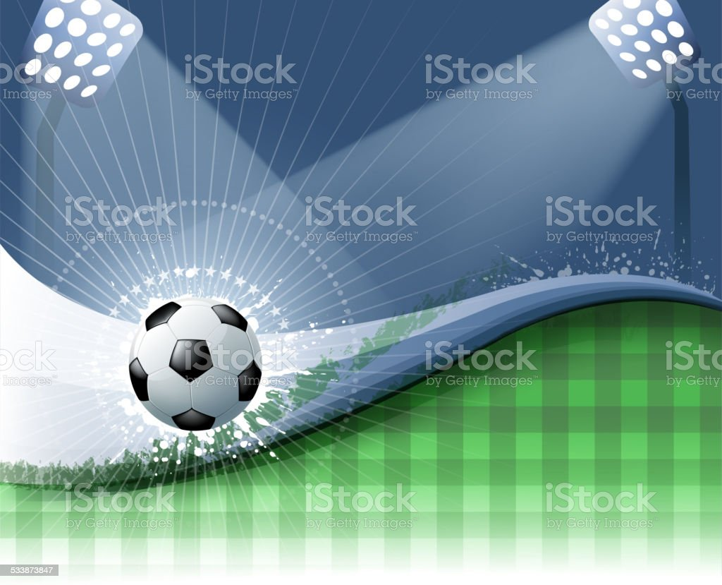 soccer field light wave vector art illustration