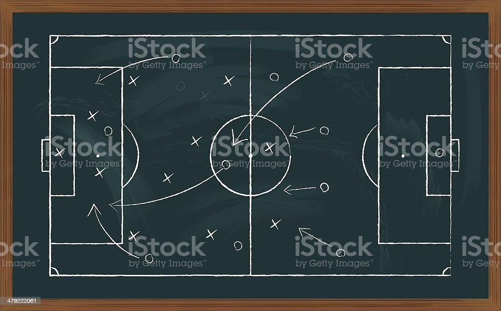 Campo de futebol no teclado - ilustração de arte em vetor
