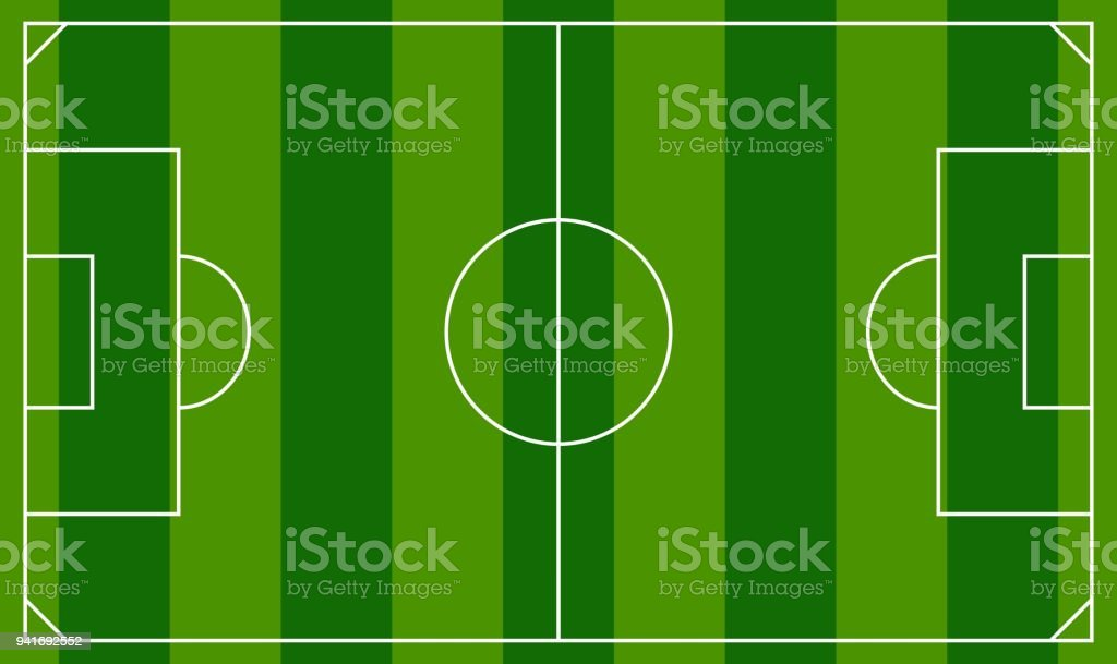Free printable soccer field sideline view soccer football field soccer field or european football field background template top view field vector illustration royalty maxwellsz