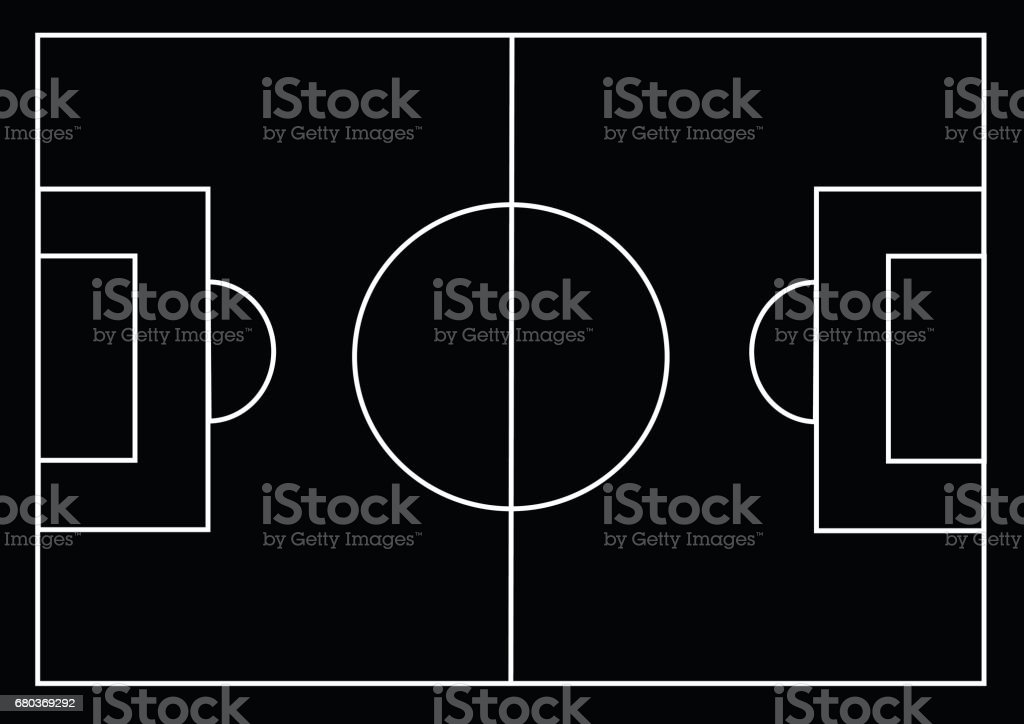 Soccer field or Football textured grass field royalty-free soccer field or football textured grass field stock vector art & more images of american football field
