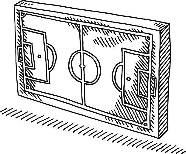 Soccer Field Symbol Drawing Hand-drawn vector drawing of a Soccer Field Symbol. Black-and-White sketch on a transparent background (.eps-file). Included files are EPS (v10) and Hi-Res JPG. soccer stock illustrations