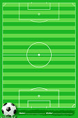 design of vector soccer field.This file has been used illustrator cs3 EPS10 version feature of multiply.