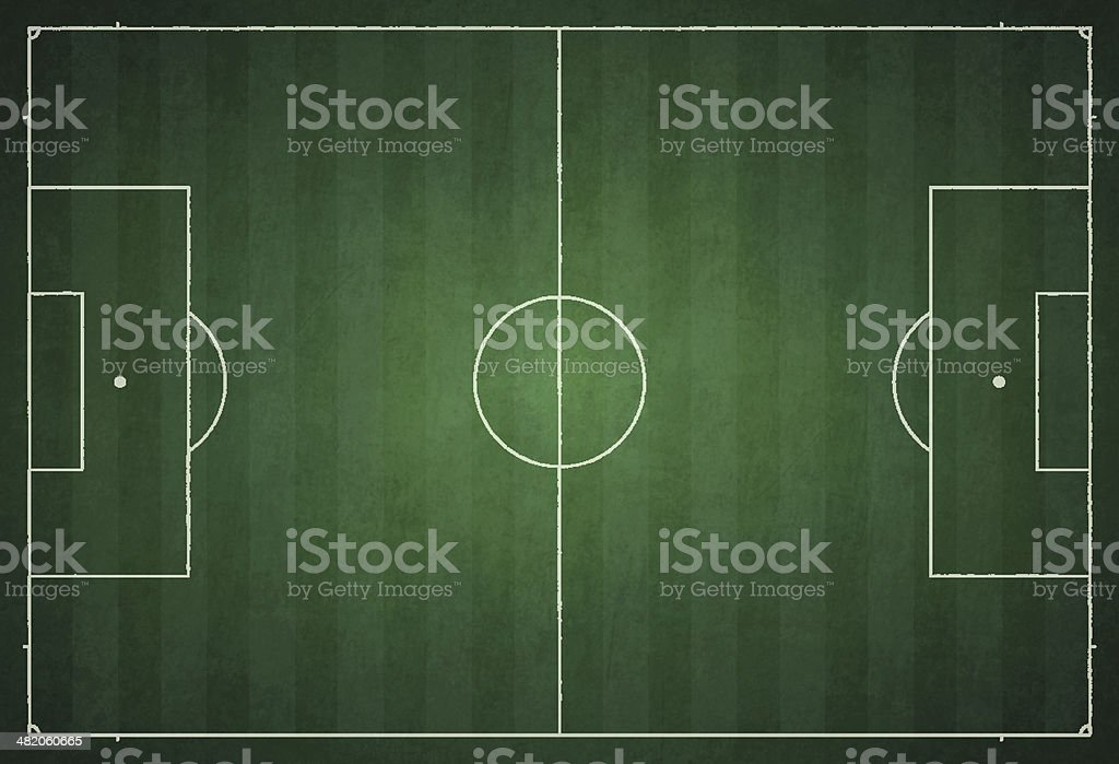 Soccer Field vector art illustration