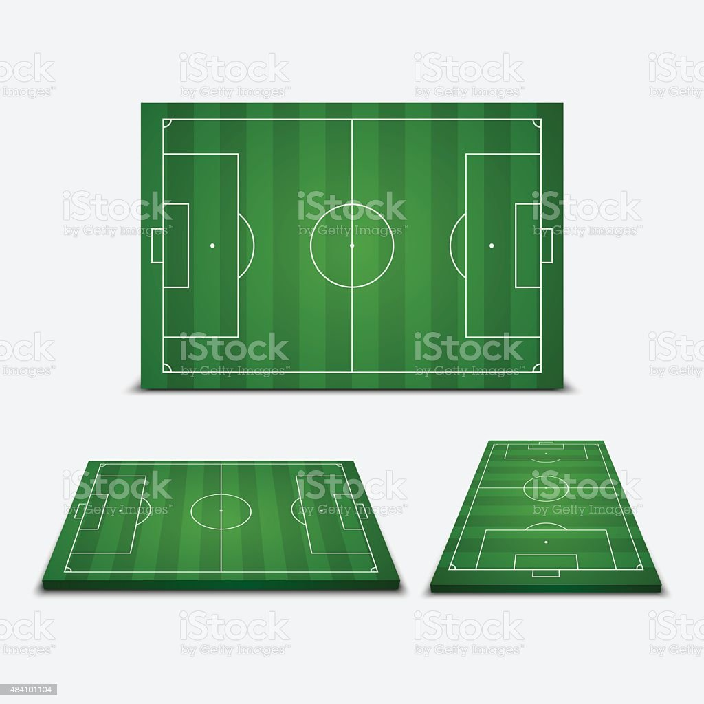Soccer field - Vector illustration vector art illustration
