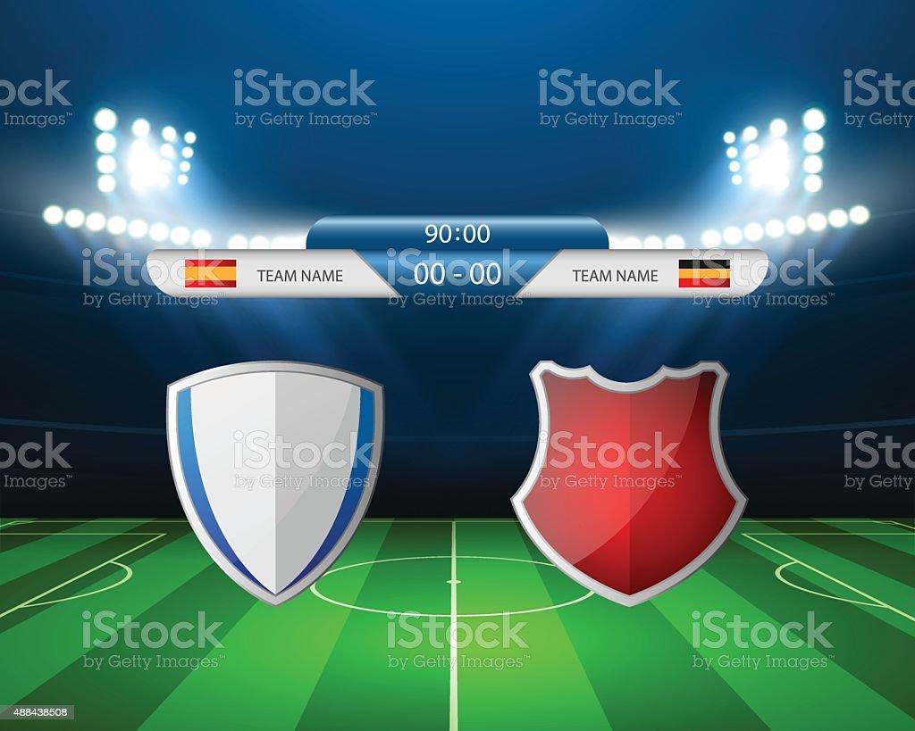 Soccer field - Vector illustration vector art illustration