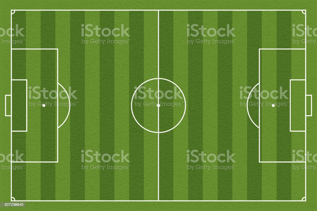 Soccer field, vector illustration