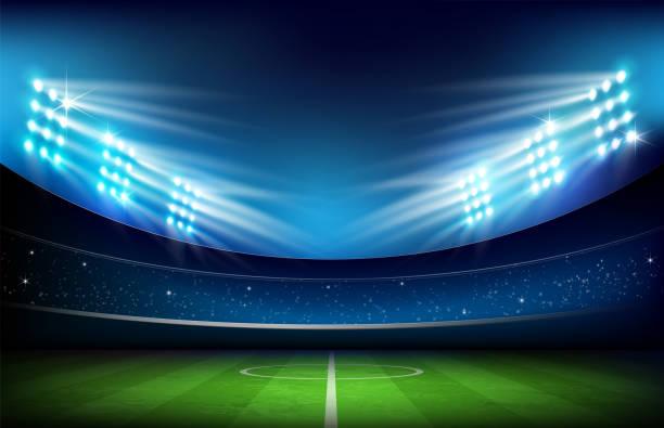 スタジアム 001 のサッカー場 - スタジアム点のイラスト素材/クリップアート素材/マンガ素材/アイコン素材