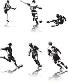 Some figures of soccer players. ZIP file contains images in AI CS2 and HiRes JPG formats.