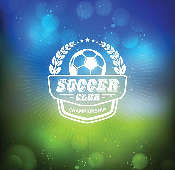 Soccer Football Badge Design Element vector art illustration