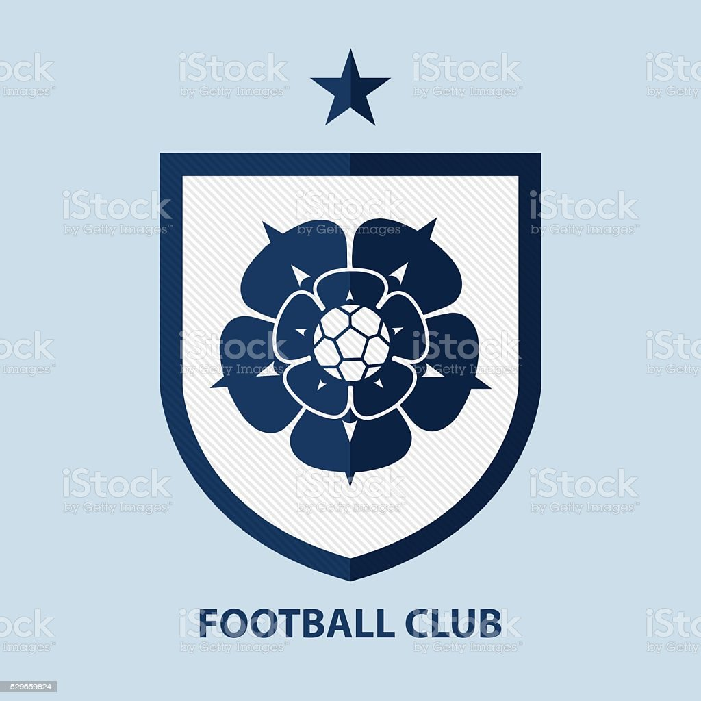 Soccer Football Badge Logo Design Template. Sport Team Identity. vector art illustration