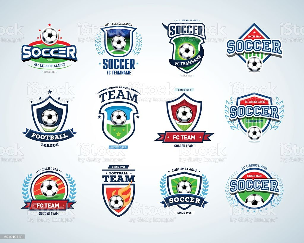 Soccer Football Badge Logo Design Templates Sport Logotype Template