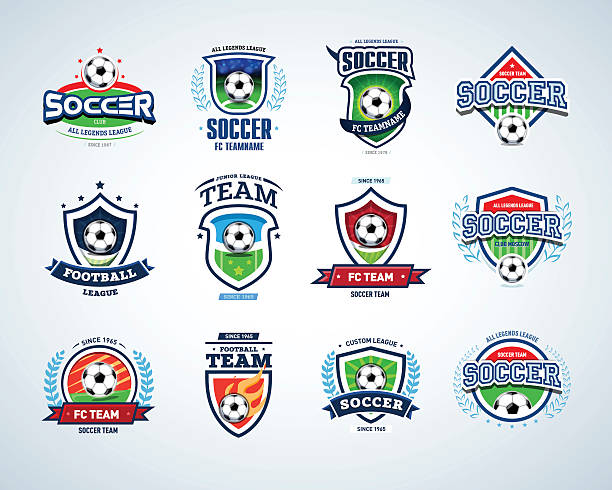 Soccer football badge Logo design templates, sport logotype template. - ilustración de arte vectorial