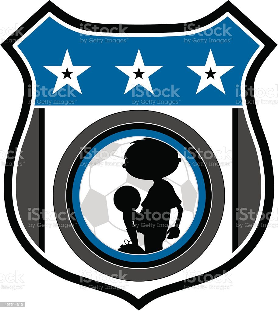Soccer Football Badge royalty-free stock vector art