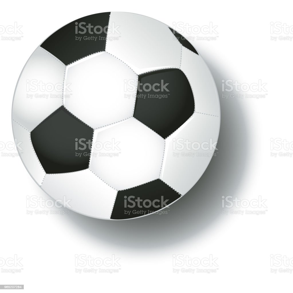 Soccer football ball and shadow isolated on white background vector. soccer football ball and shadow isolated on white background vector - stockowe grafiki wektorowe i więcej obrazów biały royalty-free