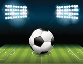 Soccer Football Ball on Field Illustration