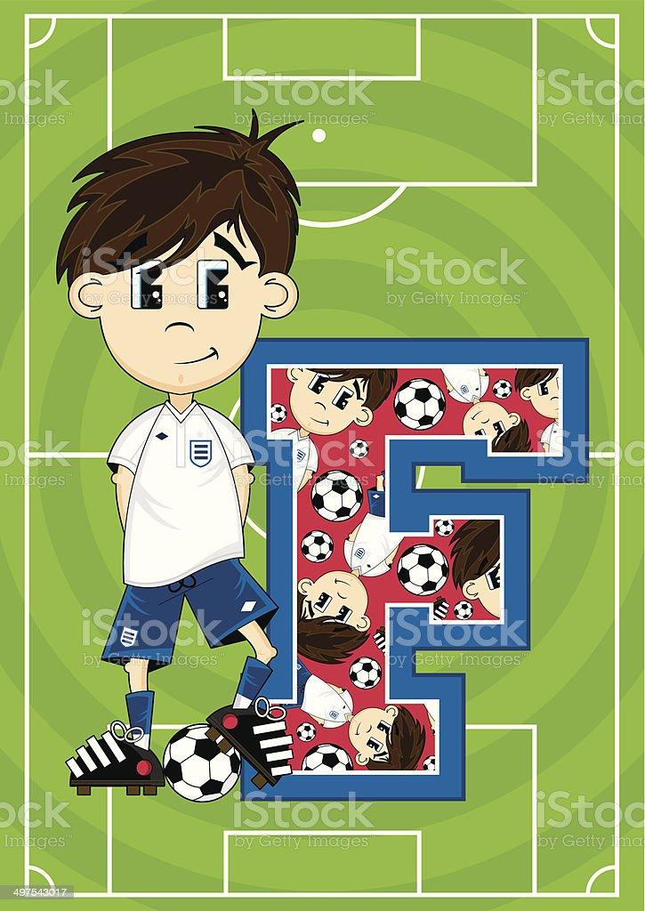 Soccer Football Boy Learning Letter F royalty-free soccer football boy learning letter f stock vector art & more images of alphabet