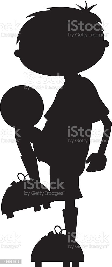 Soccer Football Boy Silhouette royalty-free stock vector art
