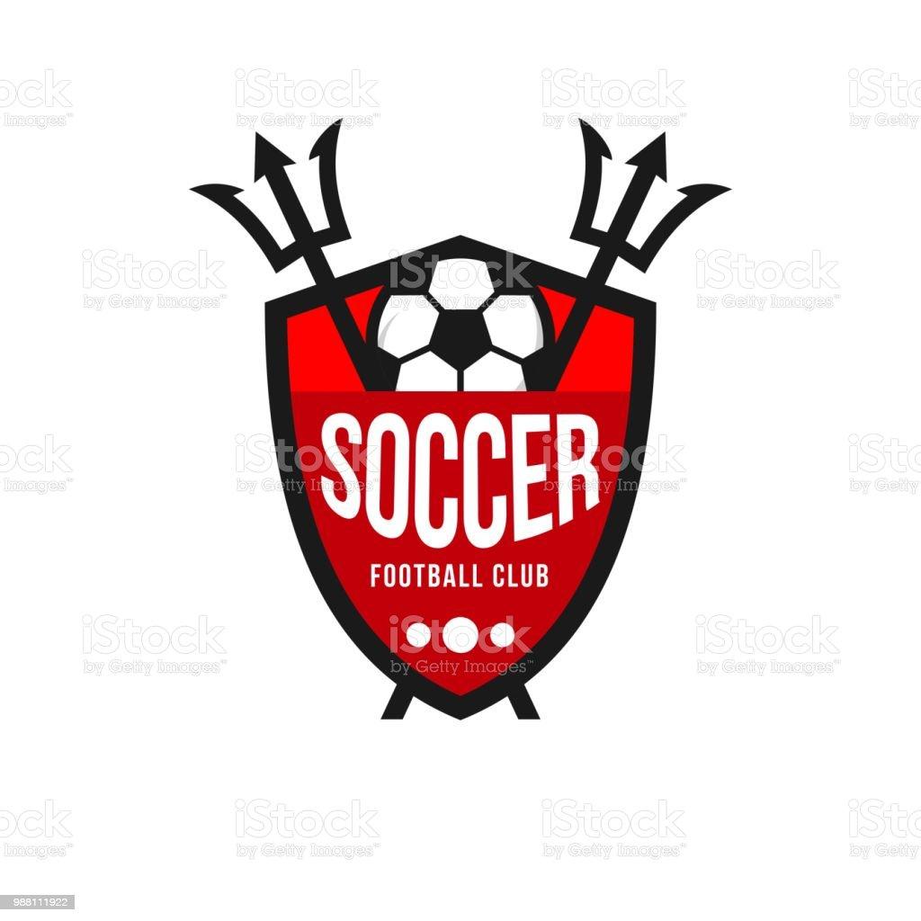 soccer football club icon vector template design stock vector art