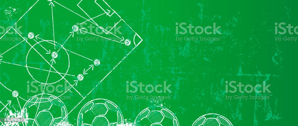 Soccer / Football design template or background vector art illustration