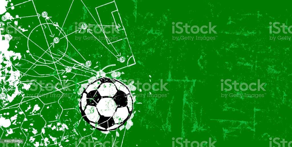 Fußball / Fußball design Vorlage oder Hintergrund – Vektorgrafik