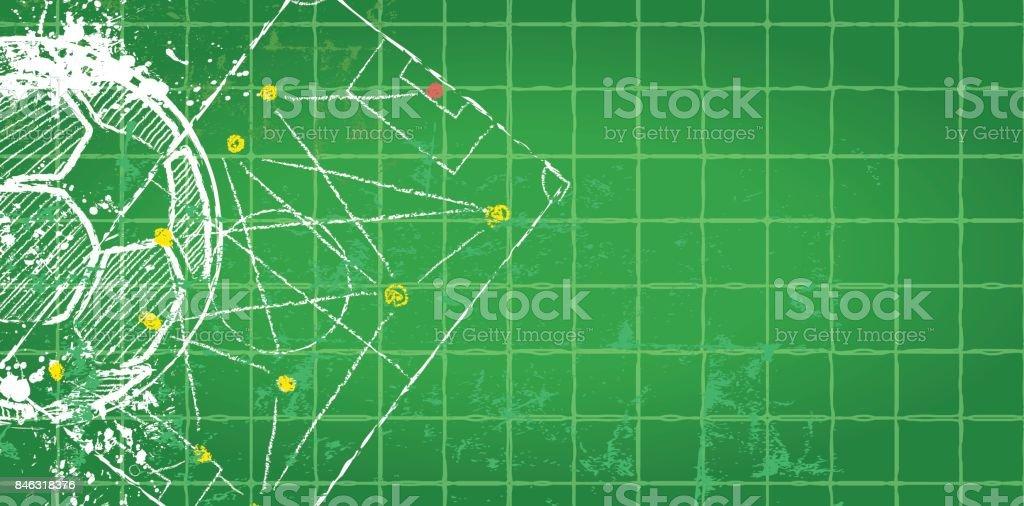 Fußball / Fußball design Vorlage, – Vektorgrafik