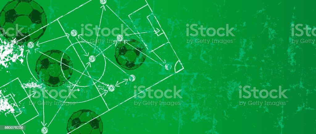 Fussball Fussballdesignvorlage Mit Strategie Zeichnen Stock