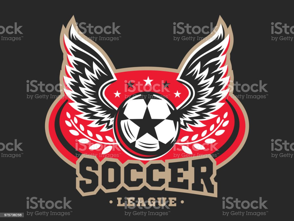 Fußball-Fußball-design - Lizenzfrei Abzeichen Vektorgrafik