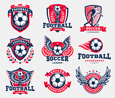 Soccer football emblem collections