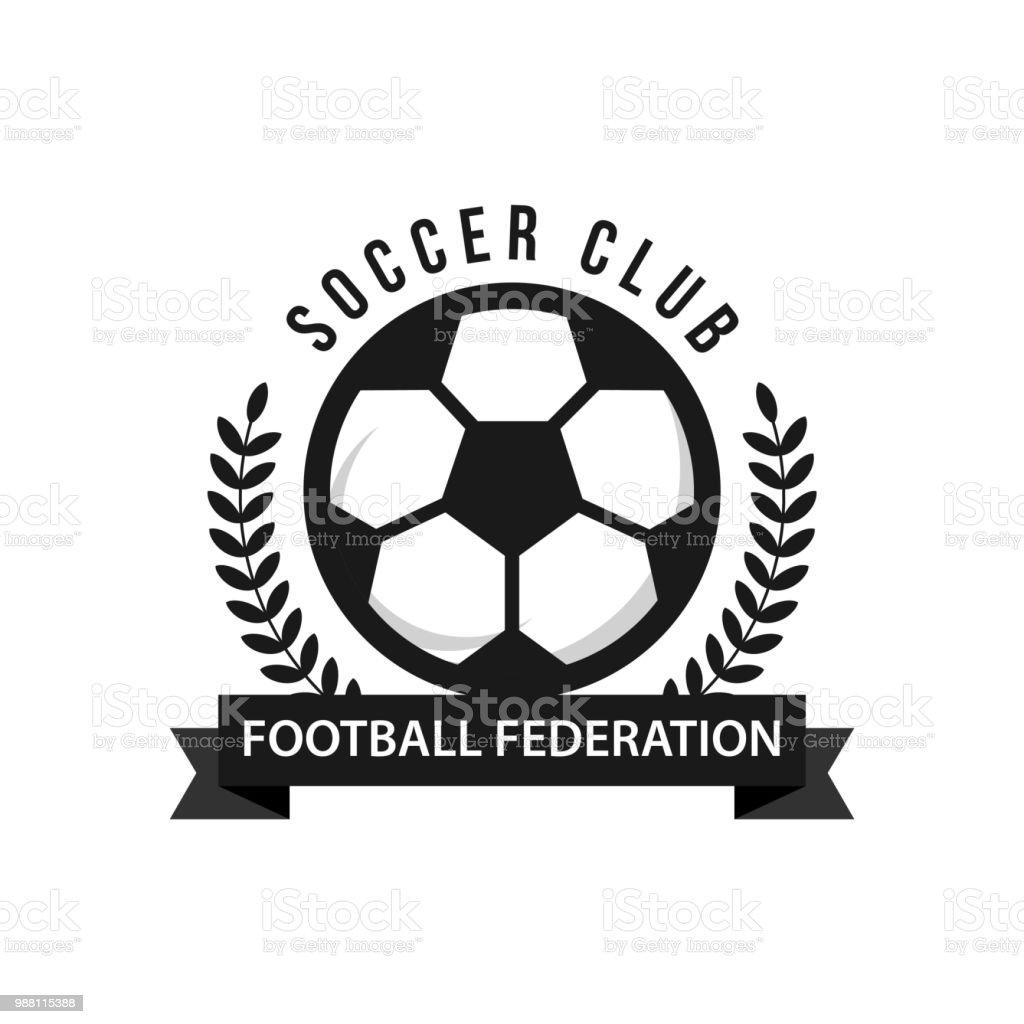 Fußball Football Federationikone Vektor Vorlage Stock Vektor Art und ...