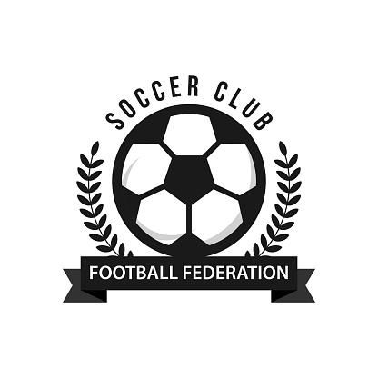 Soccer Football Federation Icon Vector Template Stock