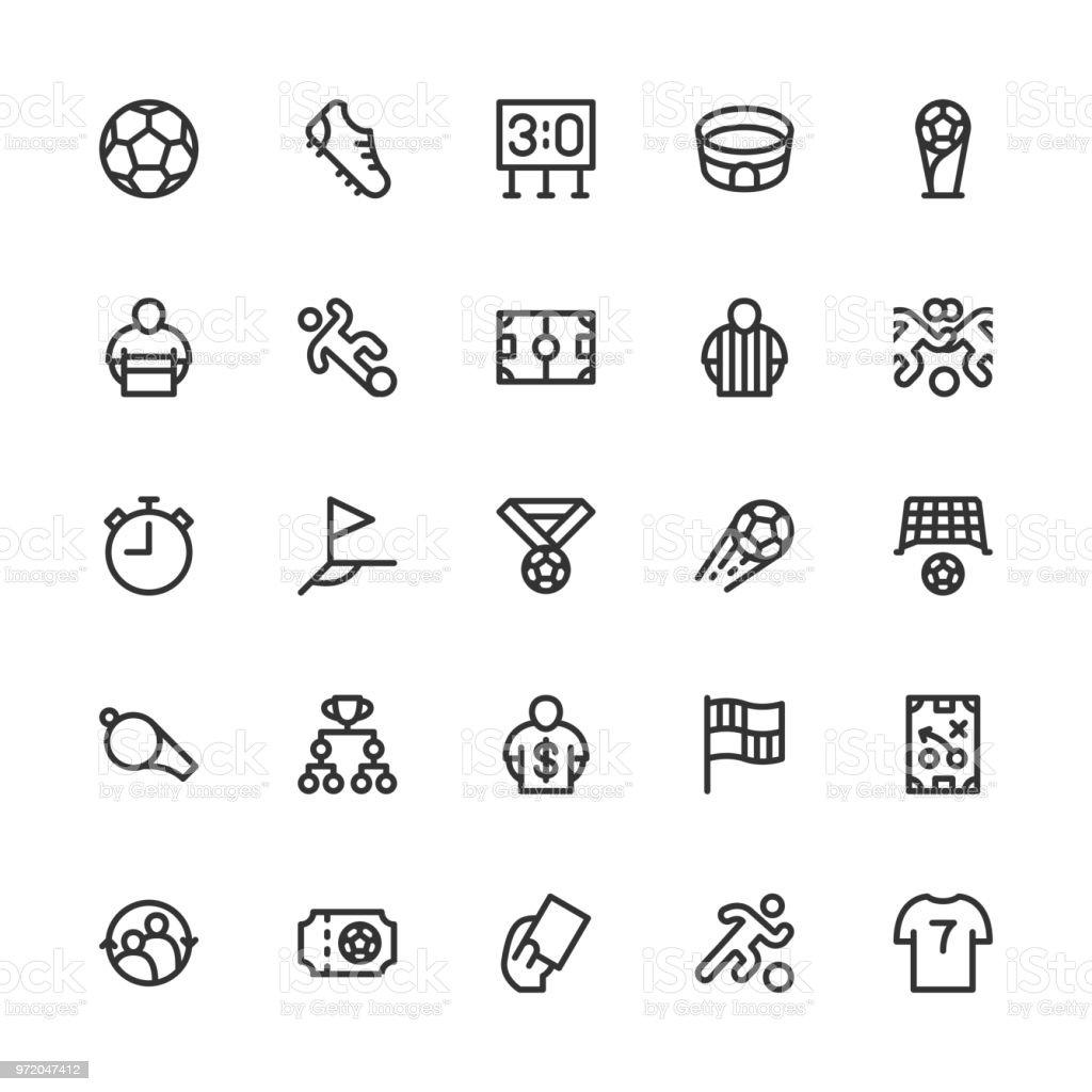 Soccer Football Icon - Line Series