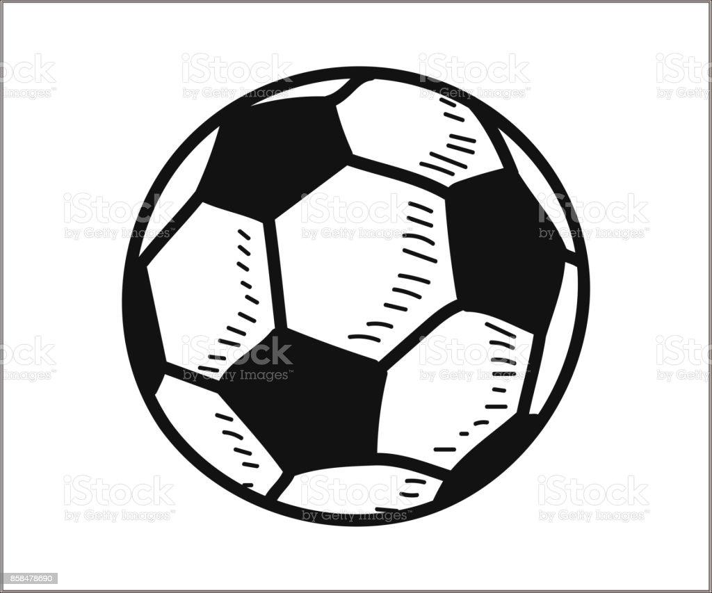 Soccer Football Icon Vector Doodle Illustration Stock Vector Art