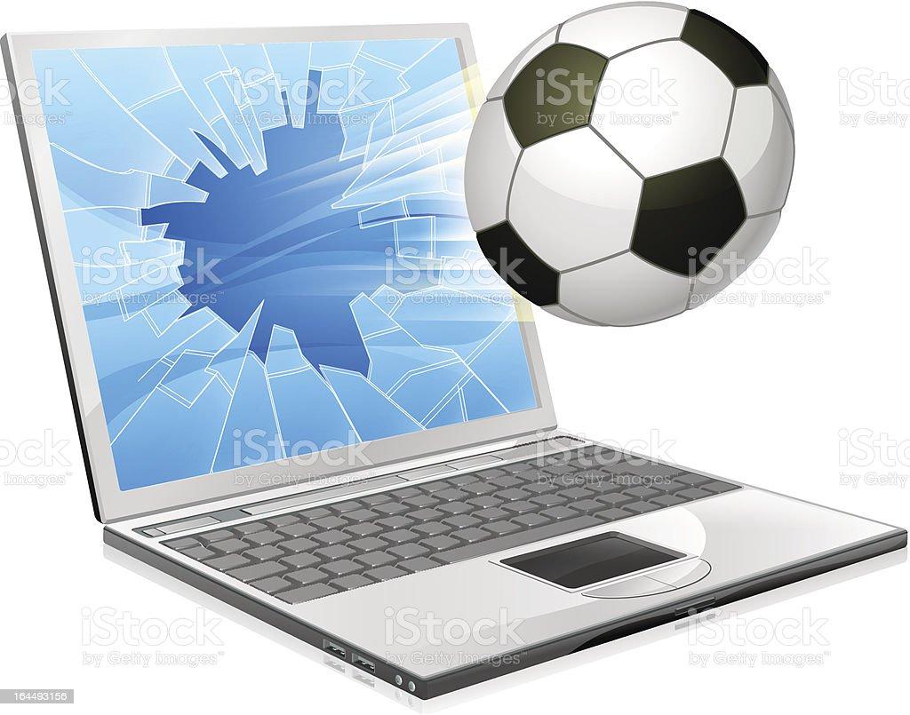Soccer football laptop concept royalty-free stock vector art