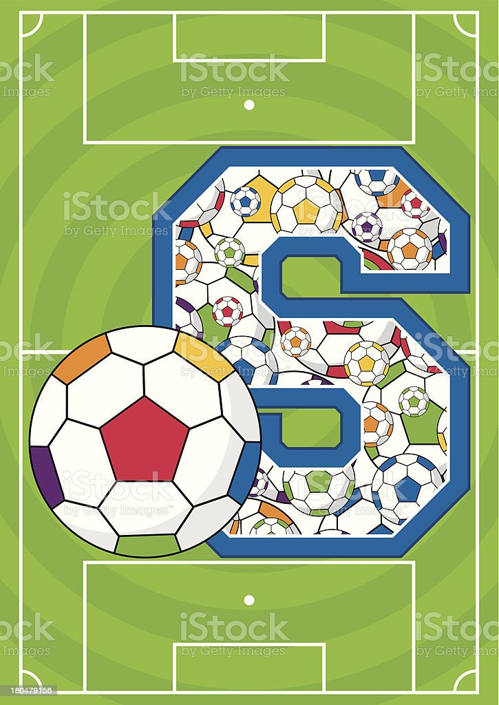 Soccer Football Learning Letter S royalty-free stock vector art