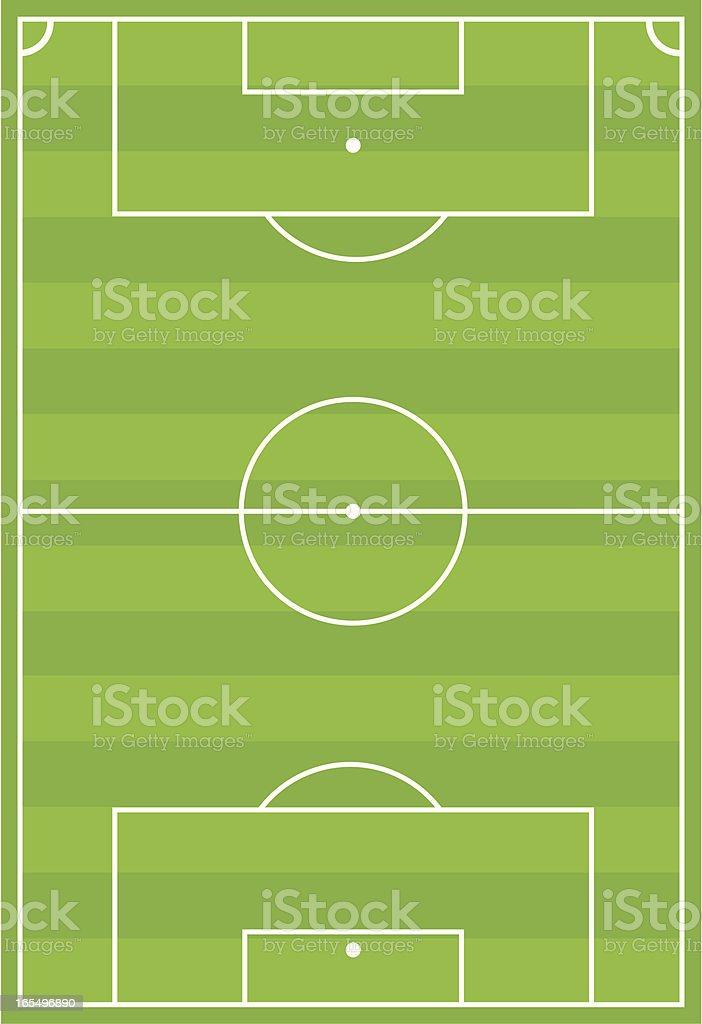 Soccer Football Pitch Horizontal Stripe royalty-free stock vector art