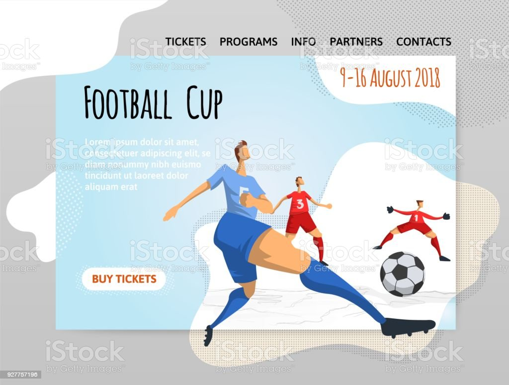 40e45e8ee5 Ilustração de Jogadores De Futebol De Futebol Em Estilo Abstrato ...