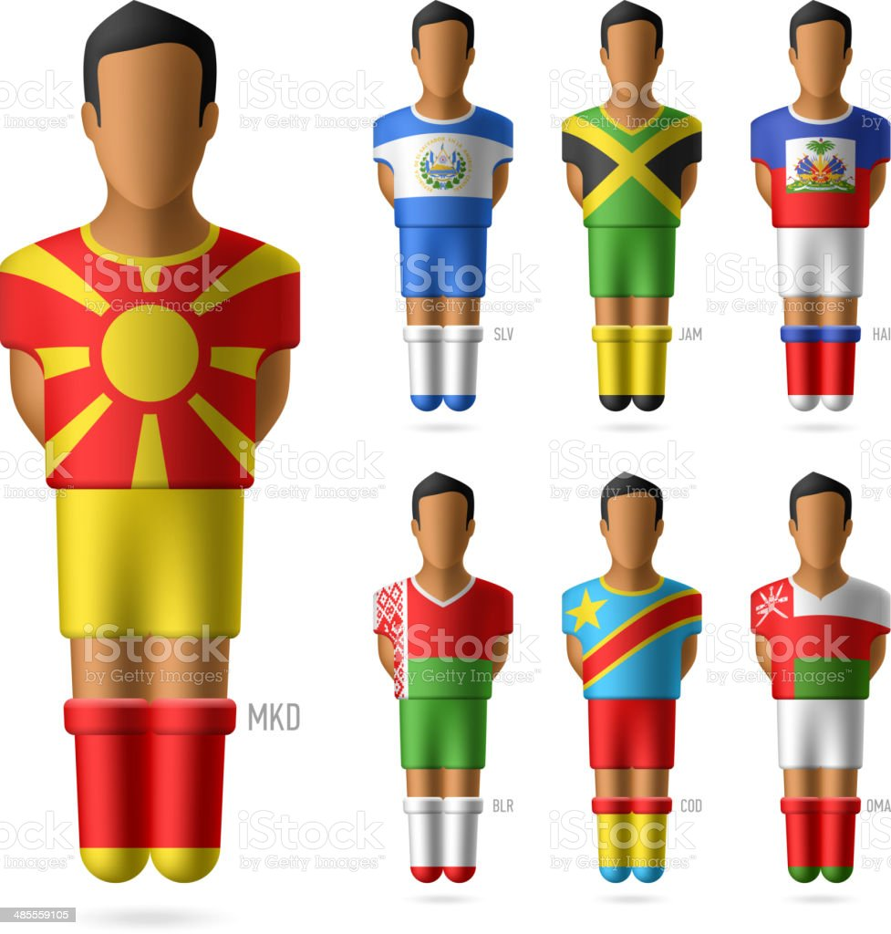 Soccer / football players royalty-free stock vector art