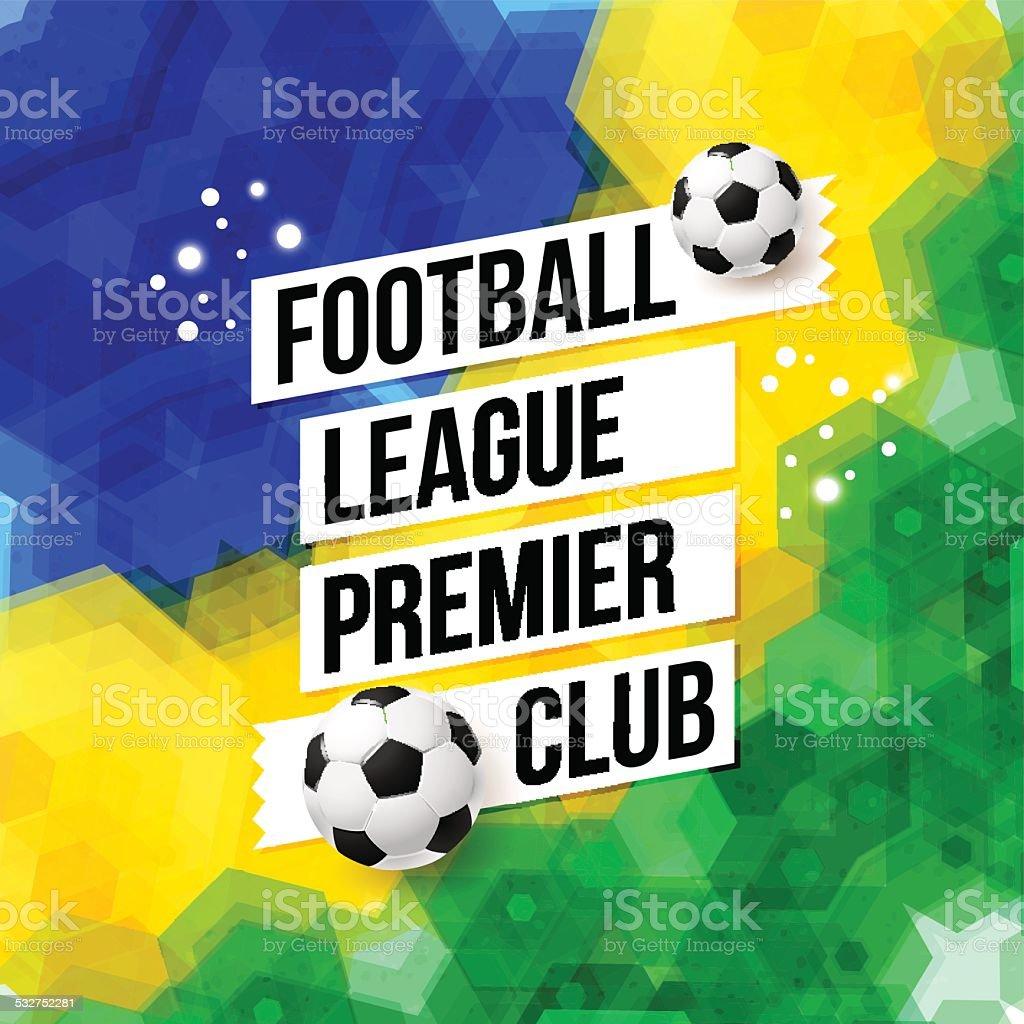 Piłka Nożna Piłka Nożna Plakat Mozaika Tło W Brazylia Flaga