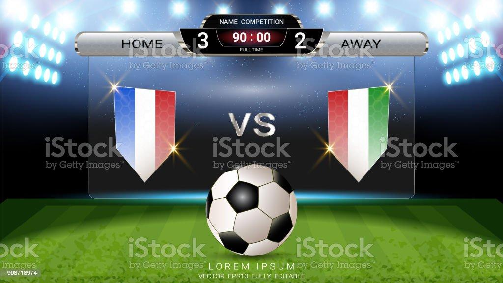 Ilustração de Placar De Futebol Do Futebol Esporte Jogo Home Versus ... f28dae5de846a