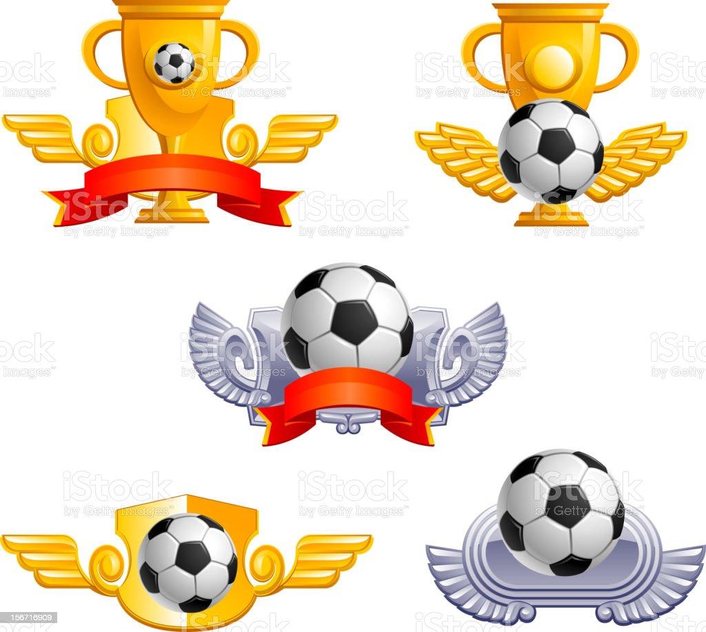 Soccer football sign royalty-free stock vector art