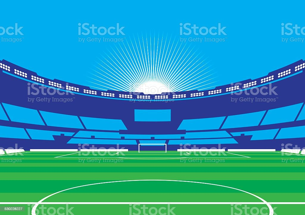 Soccer / Football Stadium vector art illustration