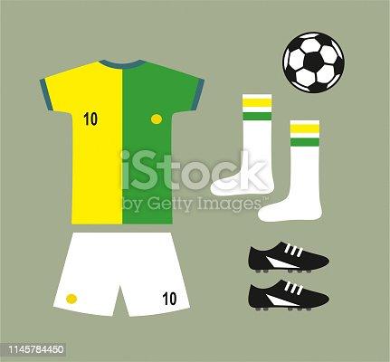 Soccer football team uniform set