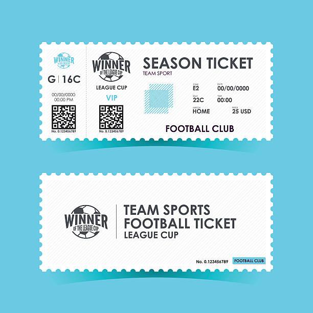 soccer, football ticket design. vector illustration - 티켓 스텁 stock illustrations