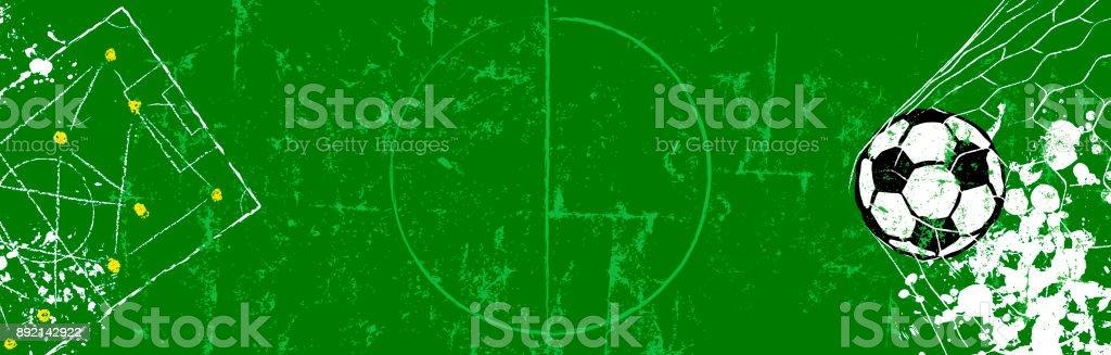 Fußball / Fußball web Banner Vorlage oder Hintergrund – Vektorgrafik
