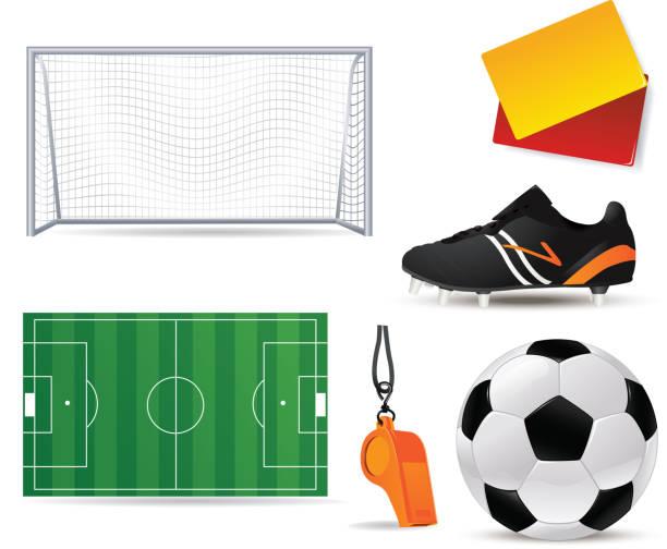 Fußball/Fotball icon-set – Vektorgrafik