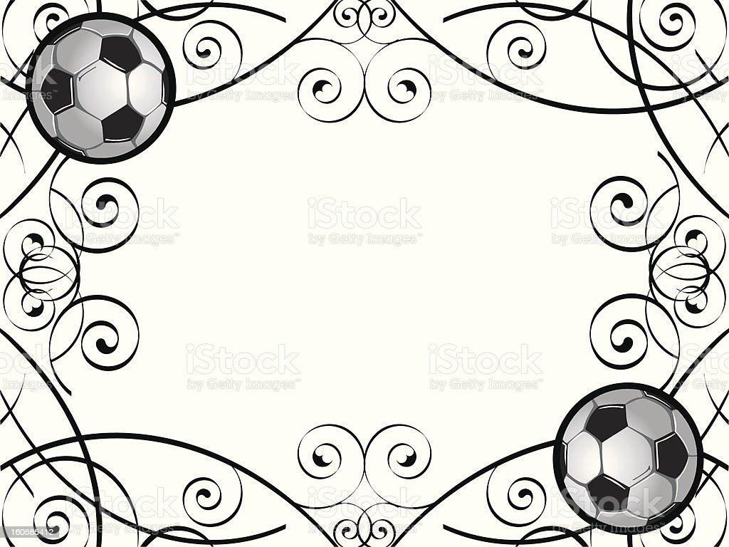 Soccer Frame Stock Vector Art & More Images of Activity 160585412 ...